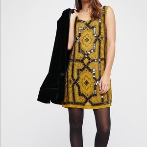 NEW Free People Embellished Shift Party Dress 0/XS